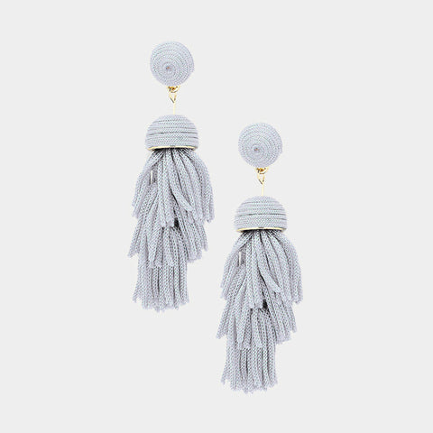 Thread Dome Layered Earrings