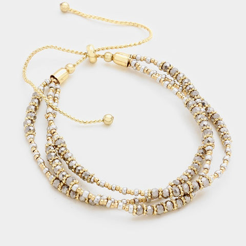 Wren Triple Row Beaded Bracelet