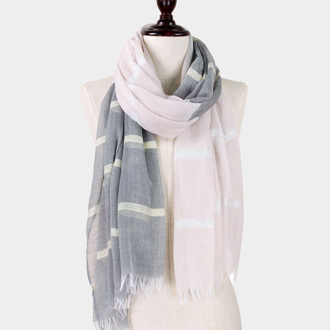 Two Tone Stripe Scarf