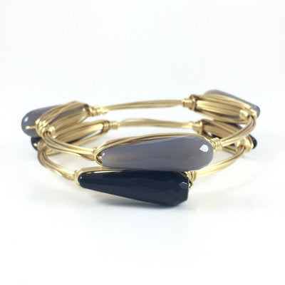 Versatile Teardrop Handmade Wire Wrapped Bangle