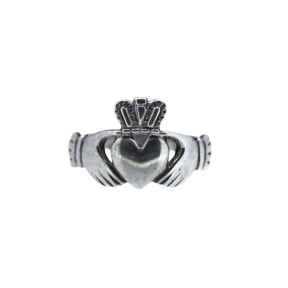 >Sylvie< 925 Sterling Silver Claddagh Ring