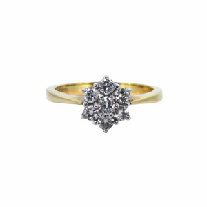 >Daisy< 18ct Gold 7 Stone Diamond Cluster Ring