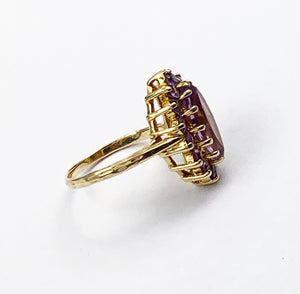 9ct Gold Pale Amethyst Ring