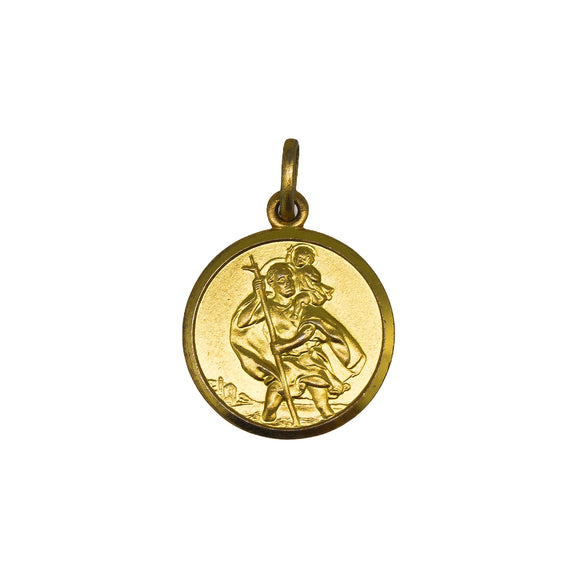 >St Christopher< 9ct Gold St Christopher Pendant