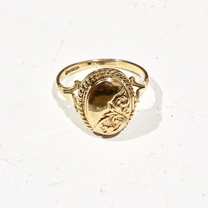 Vintage 9ct Gold Locket Ring