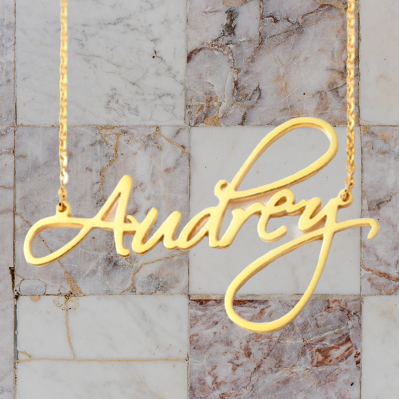 Customised Script Necklace