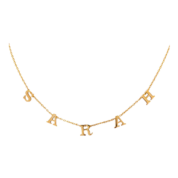Customised Initial Choker Necklace