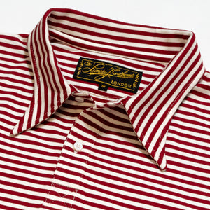 Cranberry Stripe Polo