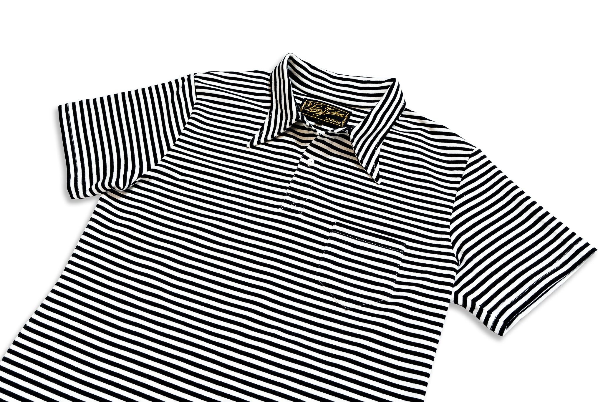 Black Stripe Polo