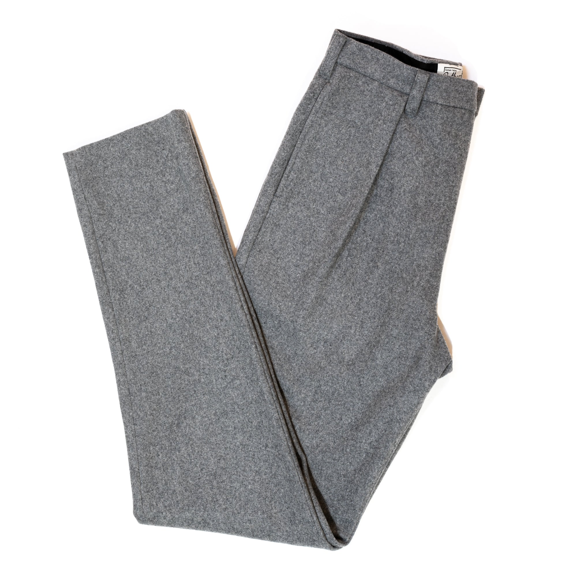 Grey Wool Astor Trousers