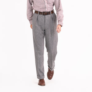 Grey Wool Astor Trouser