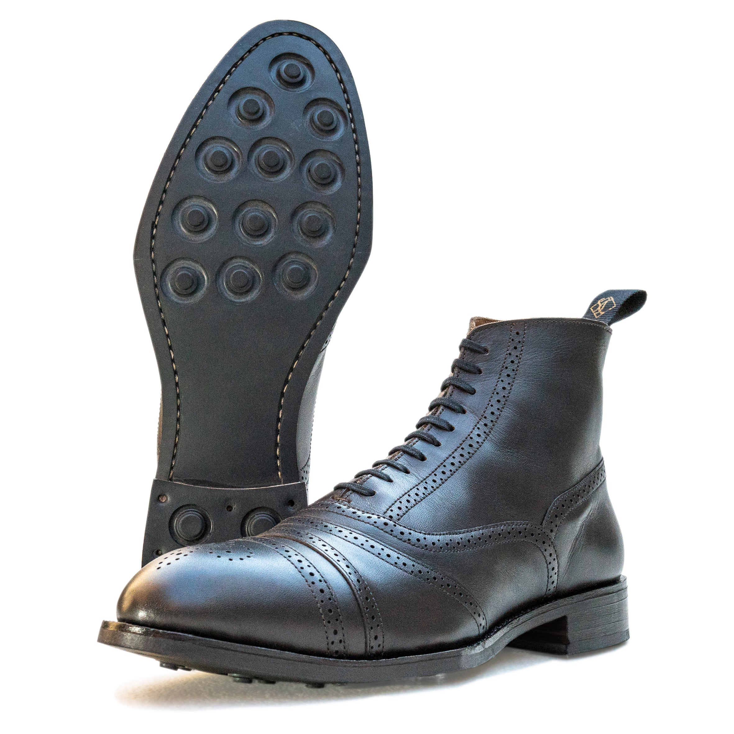 black balmoral boot sole and side