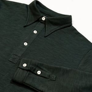 Brunswick Green Long Sleeve Polo