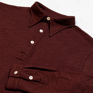 Claret Long Sleeve Polo