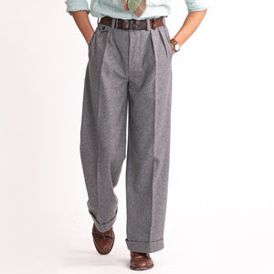 Grey Wool Ellington Trouser