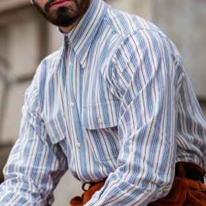 Multi-Stripe Work Shirt