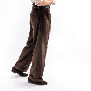 Dark Chocolate Corduroy King Cole Trousers