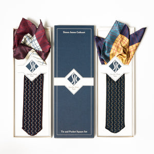 French Stripe Tie and Pocket Square Box Set