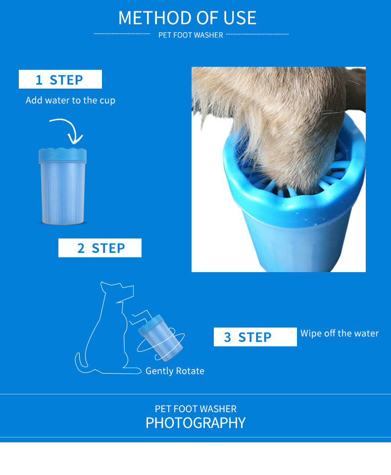 Portable Pet Paw Washer Cup Beast Shopper