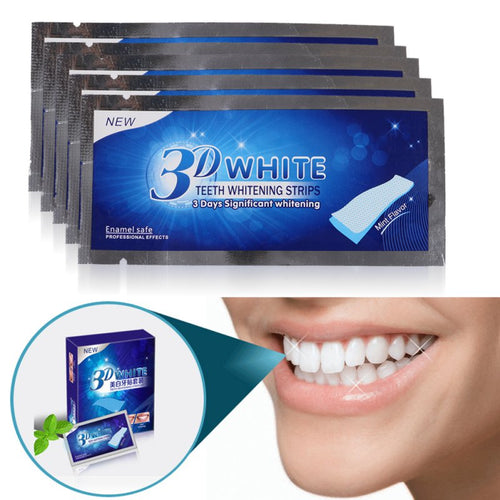 60%OFF Today 14 Pairs Professional Teeth Whitening Strips Dental Tooth Whitener - Go Shopping Best