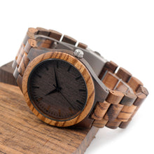 Wood Watch With Ebony Bamboo Wood