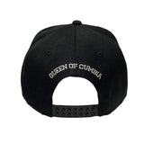 Black Snapback Cap with Silver Selena Text