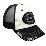 Black & White Mesh Snapback Cap with Selenaville Patch