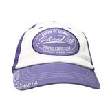 Purple & White Mesh Snapback Cap with Selenaville Patch