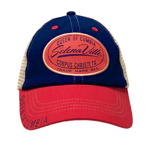 Red   Navy Blue   Tan Mesh Snapback Cap with Selenaville Patch 16e977a1a14