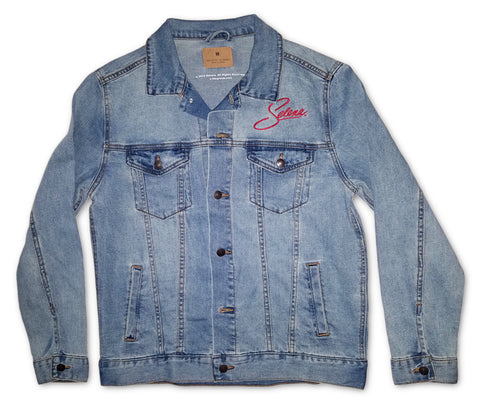 Blue Jean Jacket - Selena Picture On Back
