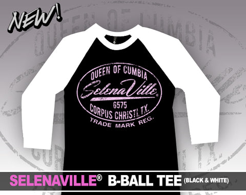 SELENAVILLE - B-BALL TEE (BLACK & WHITE)