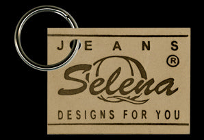 Leather Selena Keychain