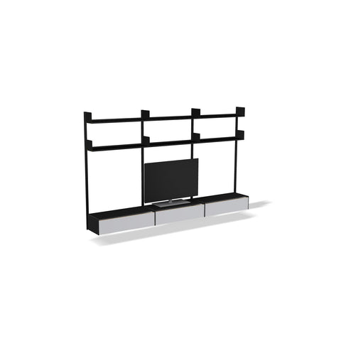 smpl. Entertainment Kit - 2x3 Shelves + Cabinets