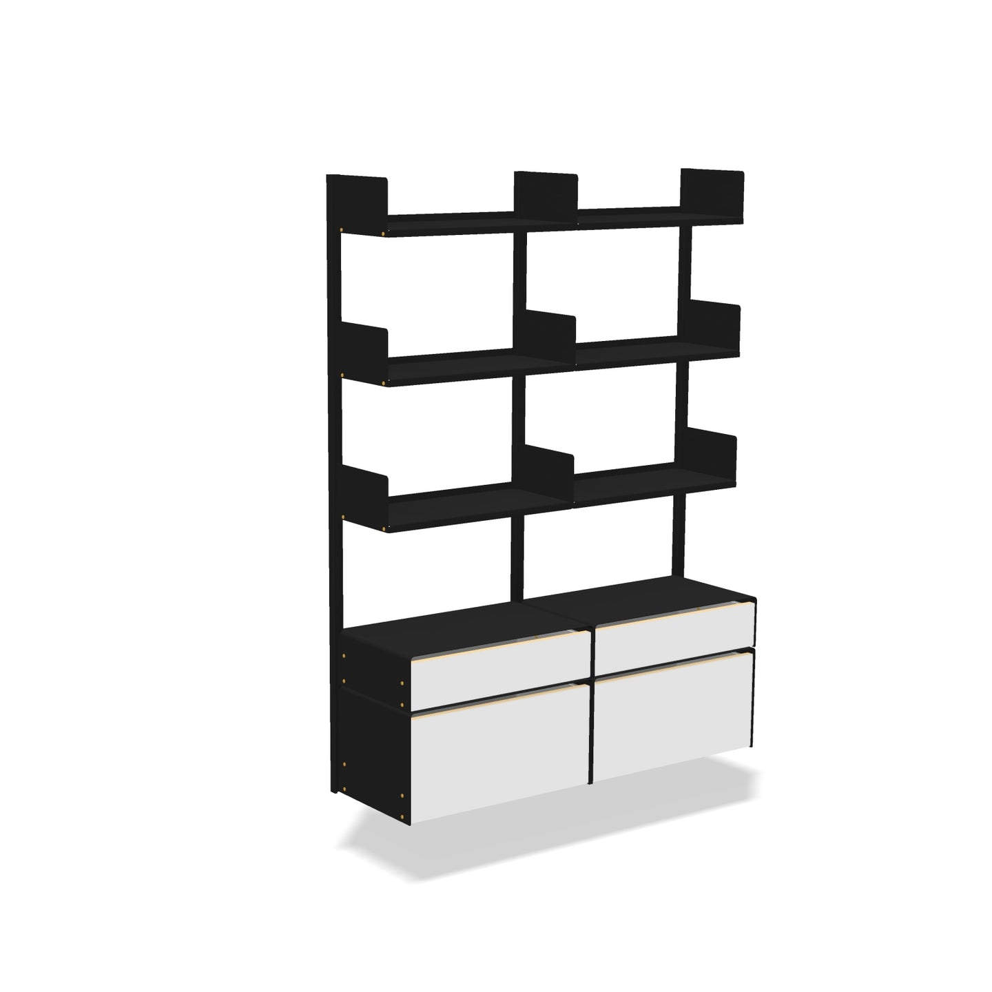 smpl. Shelves and Storage Kit - 3x2 Shelves + Cabinets