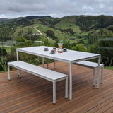Outdoor Table and Bench Set
