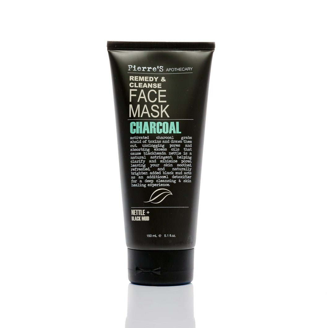Charcoal, Nettle, & Black Mud Remedy & Cleanse Face Mask