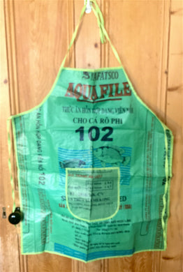 Handmade recycled rice bags waterproof apron