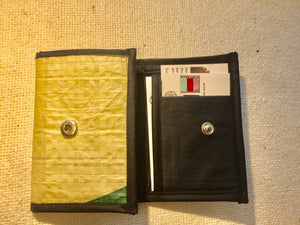 Handmade small vegan recycled wallet and card holder