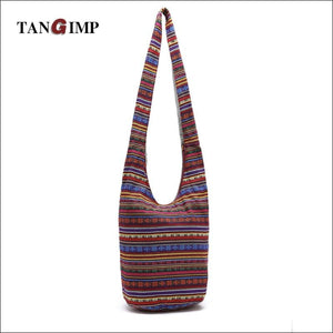 Cotton Ethnic Shoulder Cross Body Bag with Interior Slot Pocket - Samsara Online