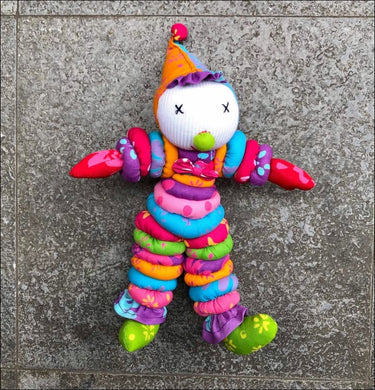 Cute stuffed cotton kid's toy handmade in Bali 25cm long x20cm wide - Samsara Online