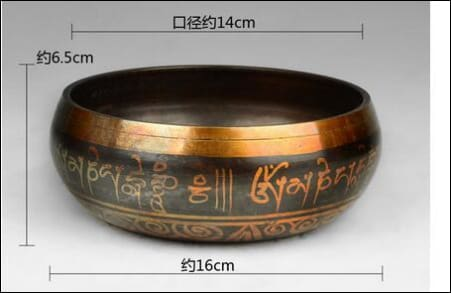 Diameter 14cm MEDITATION HEALING GENUINE SINGING BOWL copper singing bowls OAE - Samsara Online