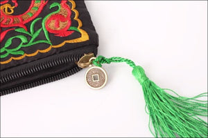Embroidered Clutch Bag with Interior Compartment 27cmx16cm - Samsara Online