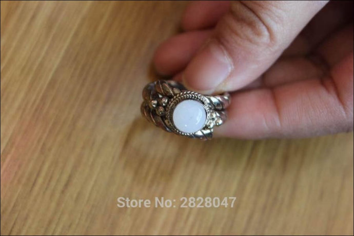 Handmade in Nepal Moonstone Ring click to choose size - Samsara Online