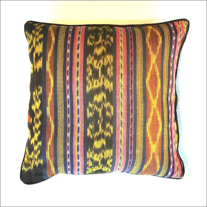 Handwoven ikat cushion cover in cotton 40cmx40cm - Samsara Online