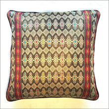 Handwoven songket cushion cover 48cmx48cm - Samsara Online