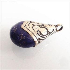 Lapis Lazuli pendants from Tibet, from $12, click to choose size OAE - Samsara Online