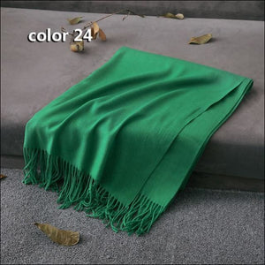 Large pure cashmere scarf from Nepal 175cm long in gorgeous colours click to choose colour OAE - Samsara Online