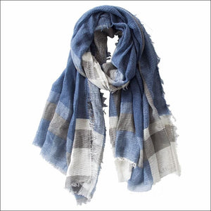 Mens cotton plaid scarf 175cm long click to choose colour - Samsara Online