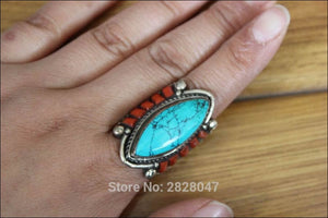 Oval Stone Ring Handmade in Nepal, click to choose size - Samsara Online