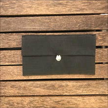 Pure silk black clutch bag purse also in pink, green, blue, red and aqua, lined with toggle closure 22cx12cm - Samsara Online